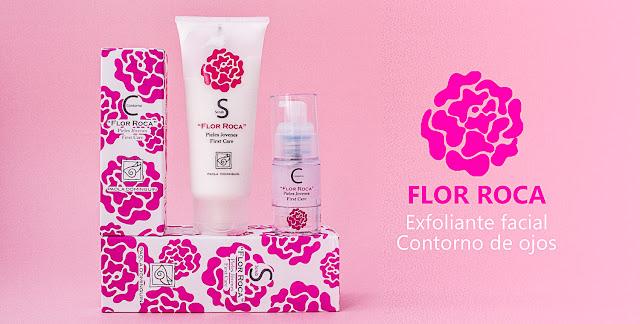 Flor Roca: Exfoliante facial y Contorno de ojos de la línea para pieles jóvenes.