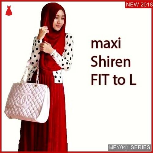 HPY041M78 Maxi Shiren Anak Polkadot Murah BMGShop