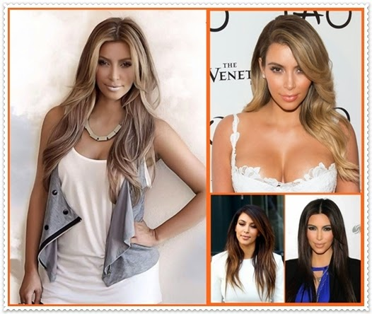 Kim Kardashian Haare 2014