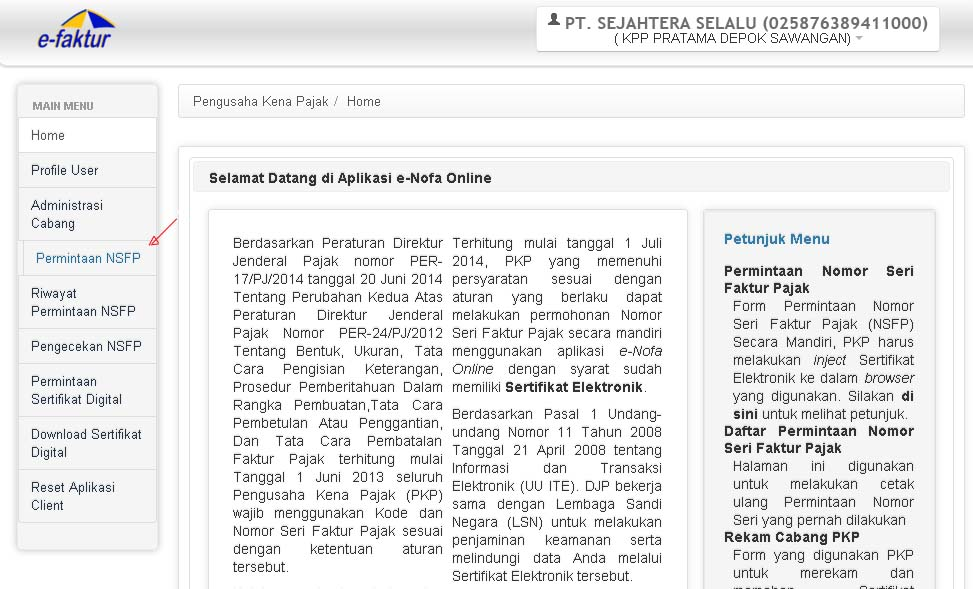 "Pajak Online: CARA MUDAH ""PERMINTAAN NOMOR FAKTUR PAJAK"" ONLINE"