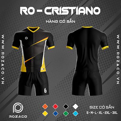 Áo Không Logo Rozaco RO-CRISTIANO Màu Đen