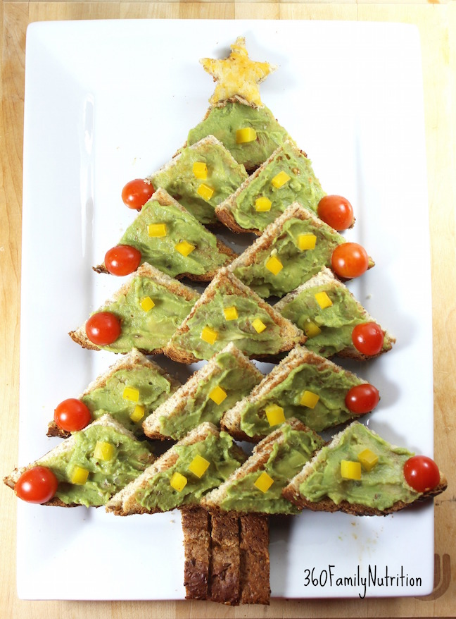 Christmas Tree Avocado Toast