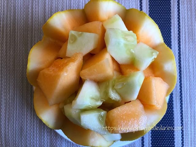 fruity melon (cantaloupe) cup