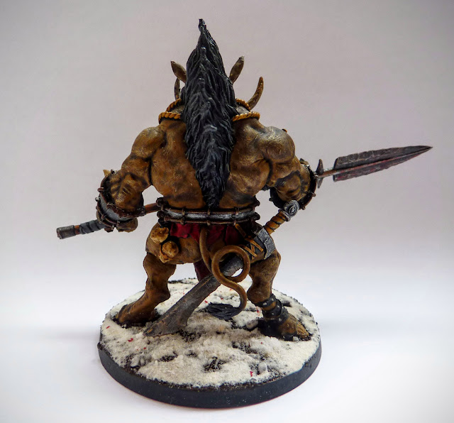 A painting update for Mierce Miniatures Broga, Wereofor Thegn.