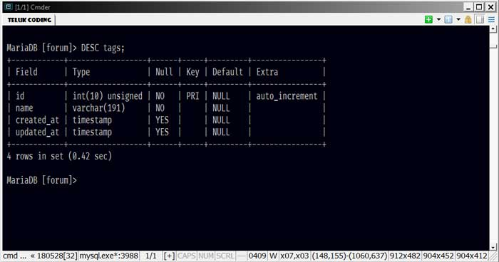 Cara Menjalankan MySQL di Command Line