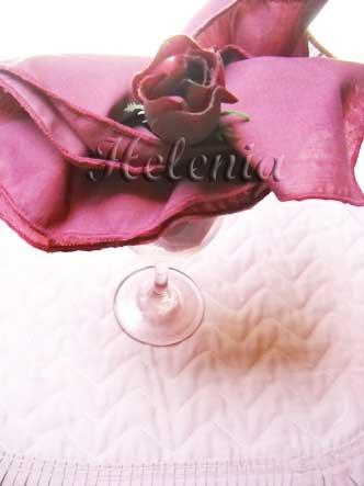 Как сложить салфетки: роза