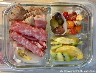Inspired by the Antipasta Bento from Simply Bento by Yuko and Noriko at Beth Fish Reads