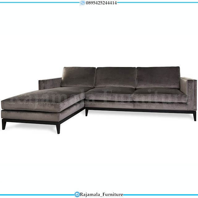 Sofa Tamu Sudut Minmalis Soft Fabric Royal Foam High Quality RM-0215