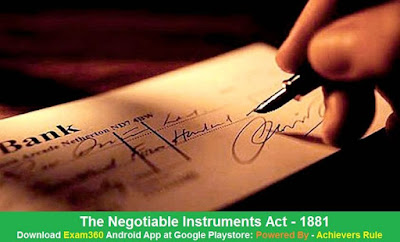 Negotiable Instruments Act, 1881 , Bare Acts