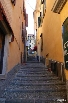 Una delle scalinate di Bellagio