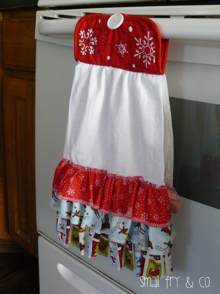 Small Fry & Co  : Ruffle Front Christmas Towel