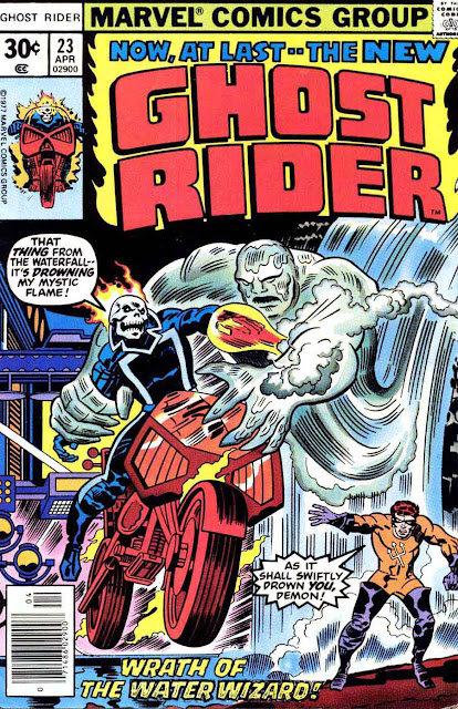 Ghost Rider v3 #23 marvel comic book cover art by Jack Kirby