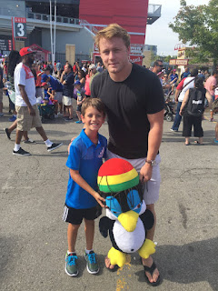 Morgan Rielly With A Beautiful Kid