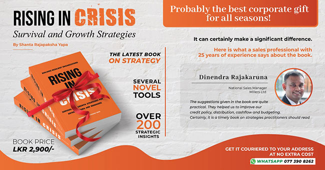 Rising in Crisis - A mandatory reading for entrepreneurs and managers.