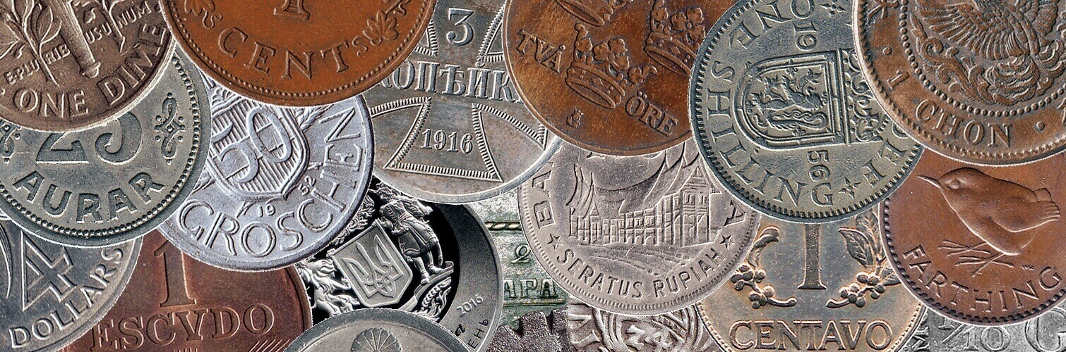 Coins catalog: by names & emitents