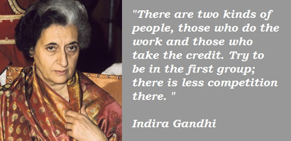 What Did Indira Gandhi Do For Womens Rights