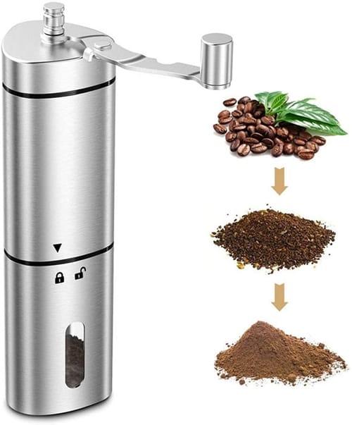 ZEAVAN Manual Coffee Grinder with Ceramic Grinding Core