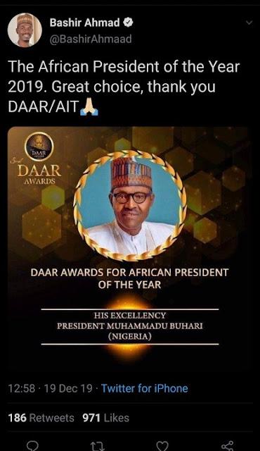 AIT Denies Honouring President Buhari With A 2019 Award (Photo)