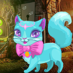 Games4King Fantasy Blue Cat Escape