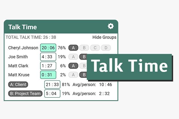 Talk Time - Πρόσθετο για να μοιράζεται σωστά ο χρόνος σε διαδικτυακές κλήσεις