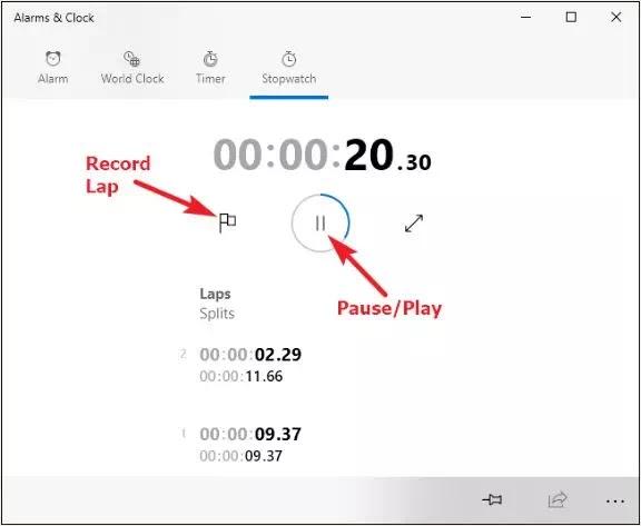 Cara Menggunakan Fitur Timer, Alarm dan Stopwatch Windows 10-5