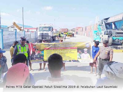 Polres MTB Gelar Operasi Patuh Siwalima 2019 di Pelabuhan Laut Saumlaki
