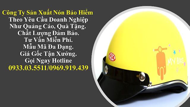 1. Sản xuất mũ bảo hiểm nửa đàu, nón bảo hiểm quà tặng, mũ bảo hiểm giá rẻ, nón bảo hiểm quảng cáo tại Cần Thơ