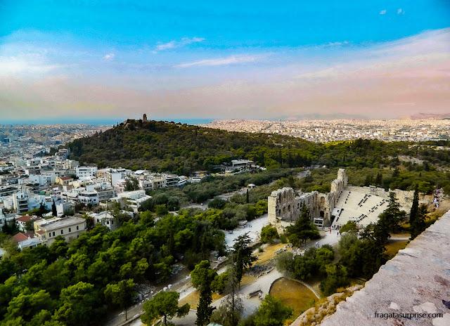 Pnyx, elevação onde se realizavam as assembleias da Democracia Ateniense