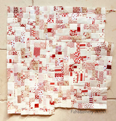 New fabric made from the white scraps