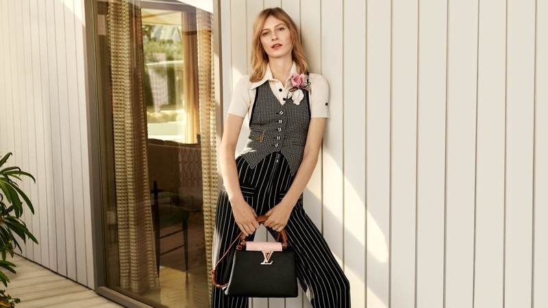 Julia Nobis stars in Louis Vuitton Capucines spring-summer 2020 campaign