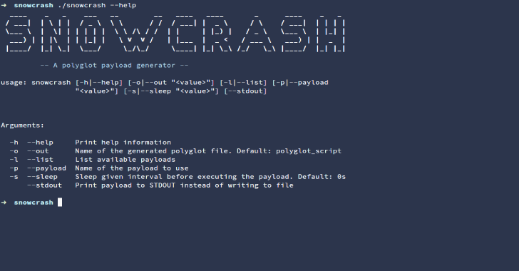 SNOWCRASH : A Polyglot Payload Generator