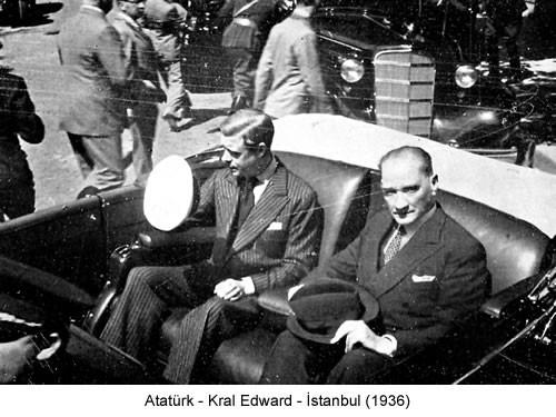 Atatürk İngiltere Kralı Edward 1936 Fotoğraf