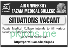 Latest Fazaia Medical College Posts 2021