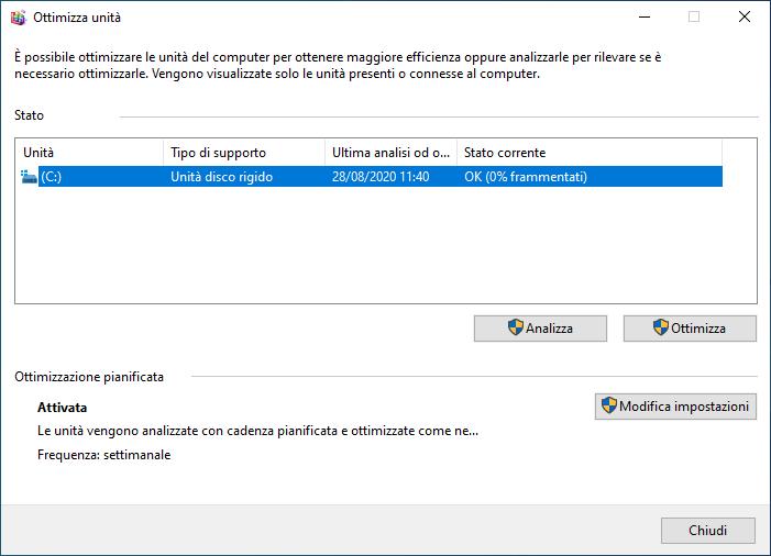Microsoft risolve il bug di ottimizzazione disco in Windows 10