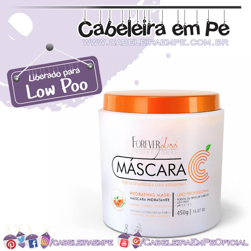 Máscara Vitamina C Rejuvenescedora - Forever Liss (Low Poo)