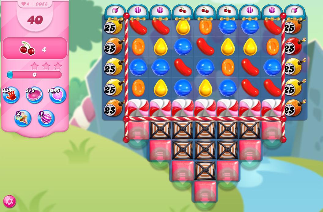Candy Crush Saga level 9058