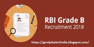 RBI recruitment 2018: for Grade B officer