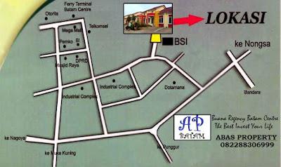 Posisi Strategis Perumahan Buana Regency | Batam Centre