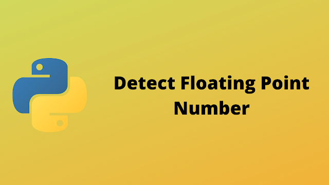 HackerRank Detect Floating point number solution in python