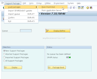 Upgrade SAP Support Package