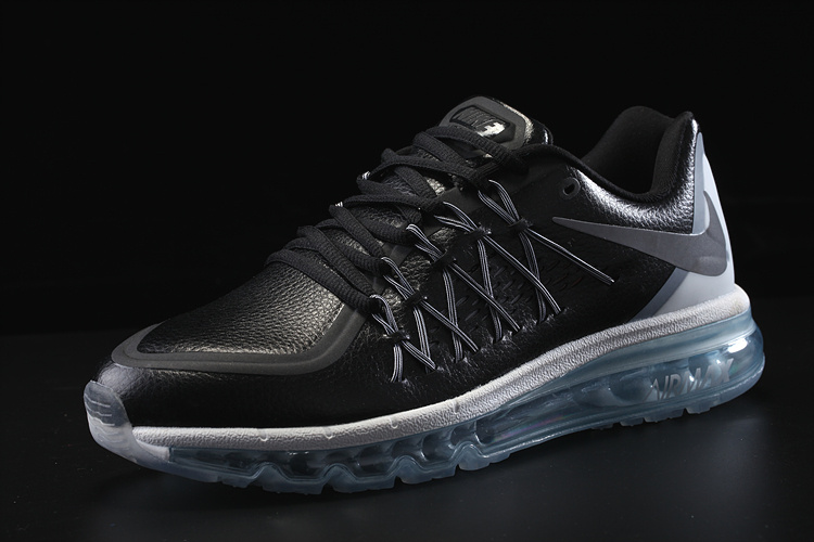 8fb5f0ec51fe Nike Sneaker View  Nike air max 2015 black ice sole leather sneaker