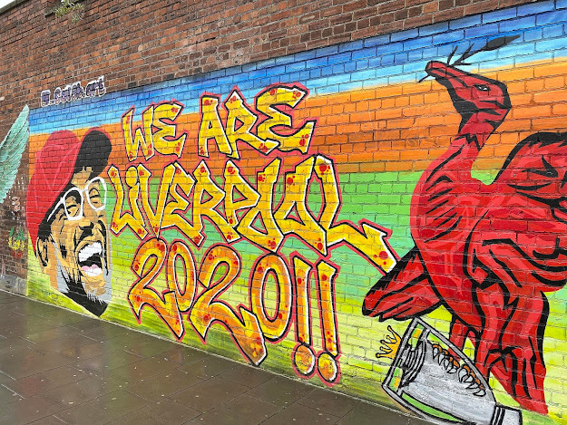 Jurgen Klopp we are liverpool Street Art Mural Graffiti Liverpool