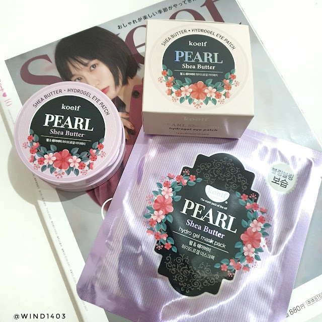 Review Koelf Petitfee Pearl Shea Butter Hydro Gel Eye Patch and Face Mask