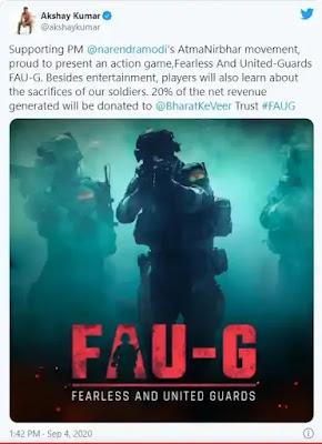 الهند تطلق لعبة حربية قوية (FAU-G ) بعد حظر ببجي موبايل