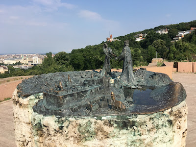 gellert hill garden of philosophy budapest hungary prince buda princess pest