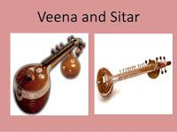 sitar and veena