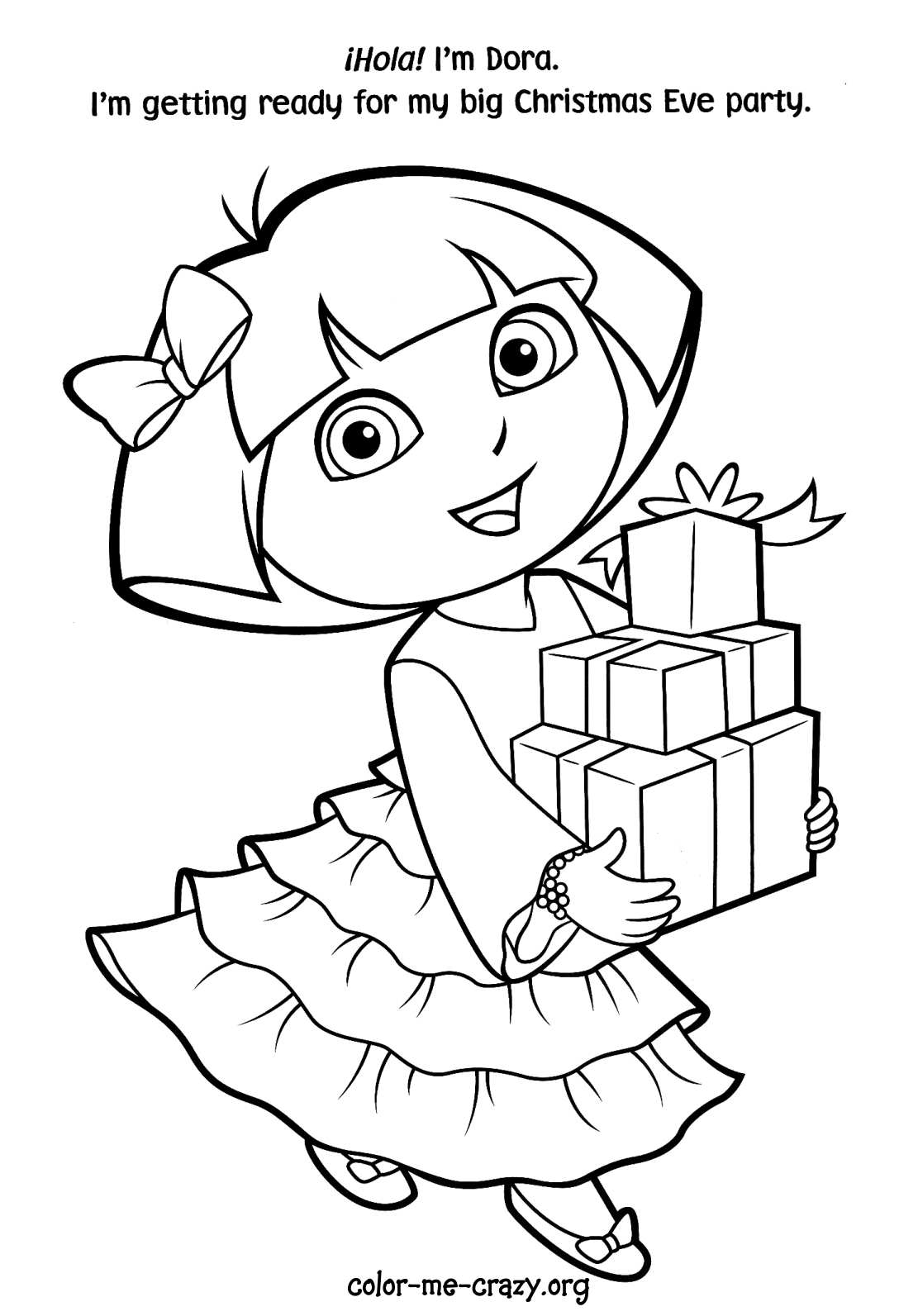 for Dora printable coloring pages