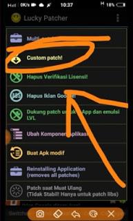 Cara memodifikasi Aplikasi di Lucky Patcher