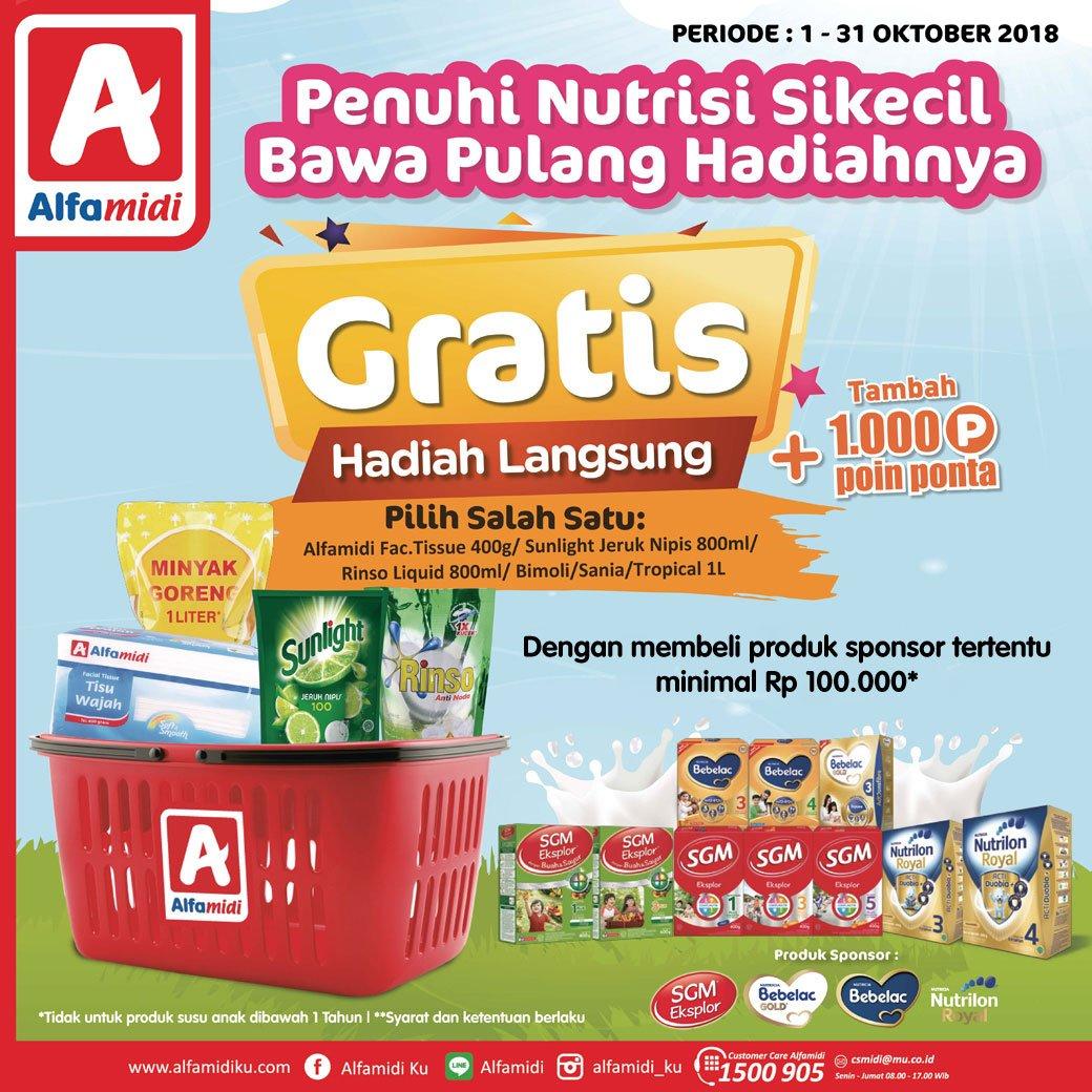 Alfamidi - Promo Pembelian Susu Dapatkan 1000 Point Ponta & Hadiah Langsung