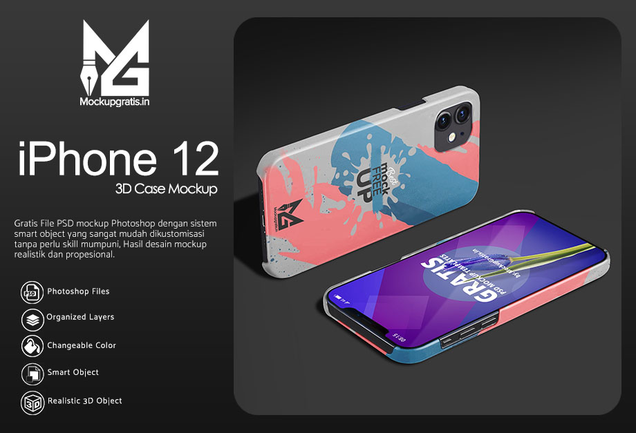 Mockup Custom Case 3D iPhone 12